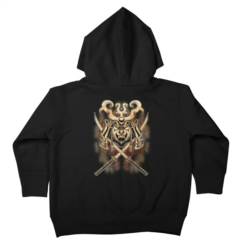 SAMURAI WOLF Kids Toddler Zip-Up Hoody by Inkdwell's Artist Shop