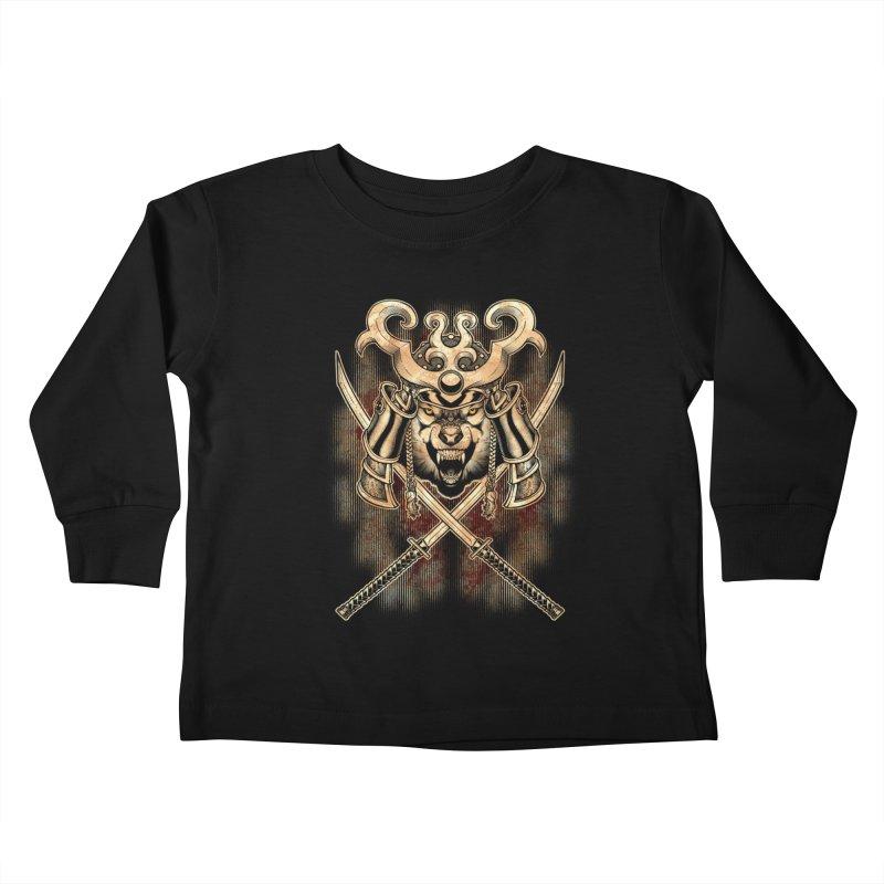 SAMURAI WOLF Kids Toddler Longsleeve T-Shirt by Inkdwell's Artist Shop