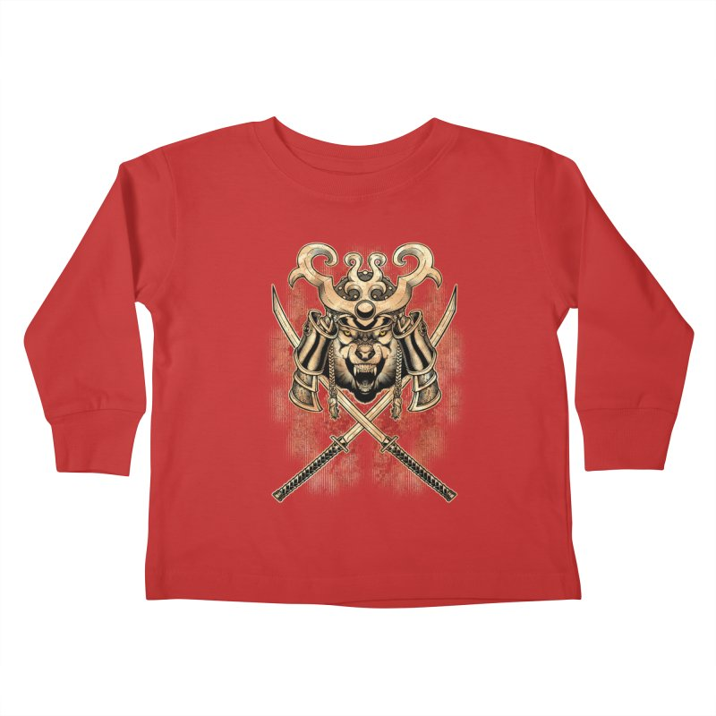 SAMURAI WOLF Kids Toddler Longsleeve T-Shirt by Inkdwell's Artist Shop