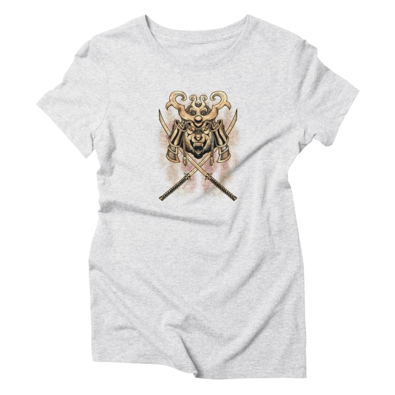 SAMURAI WOLF Women's T-Shirt by Inkdwell's Artist Shop
