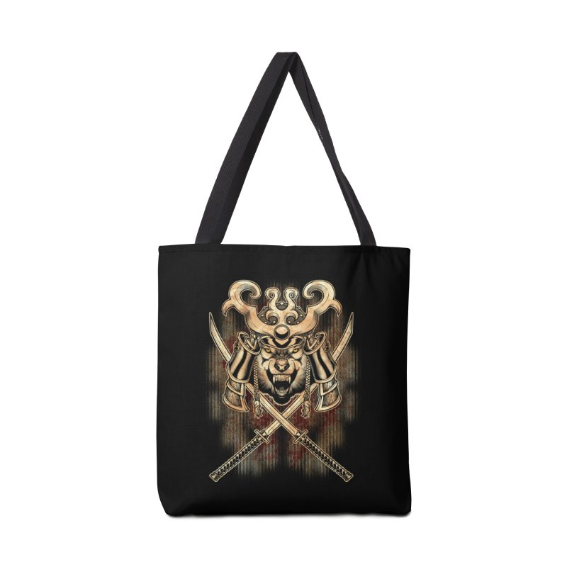 SAMURAI WOLF Accessories Tote Bag Bag by Inkdwell's Artist Shop