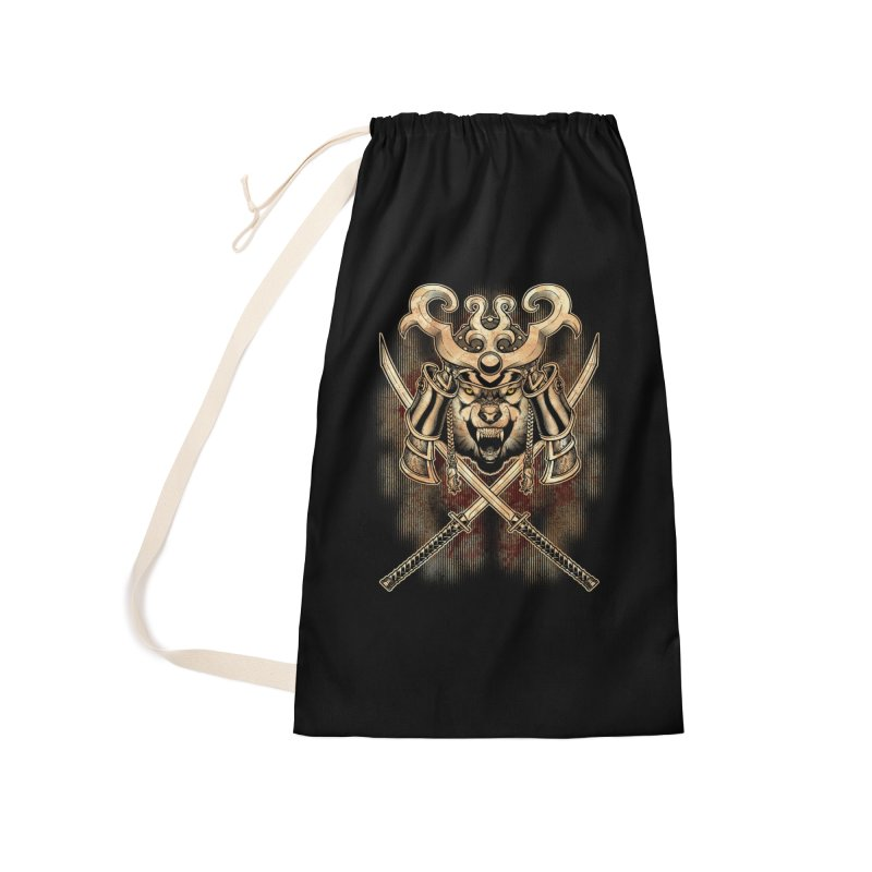 SAMURAI WOLF Accessories Laundry Bag Bag by Inkdwell's Artist Shop