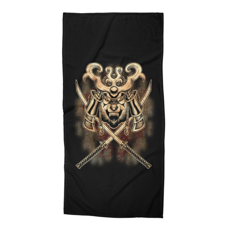 SAMURAI WOLF Accessories Beach Towel by Inkdwell's Artist Shop
