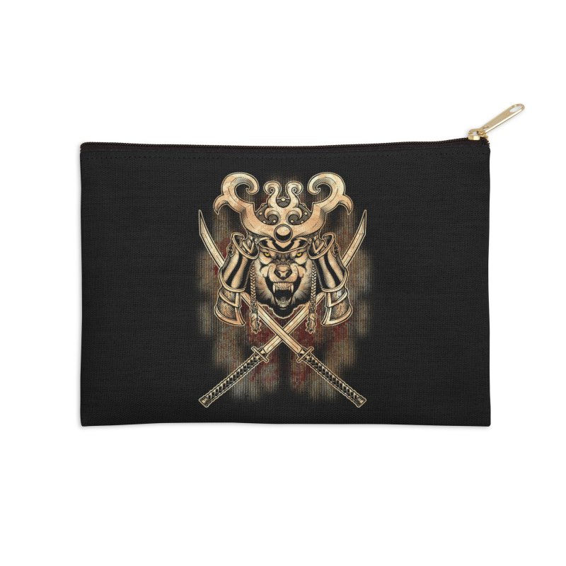 SAMURAI WOLF Accessories Zip Pouch by Inkdwell's Artist Shop