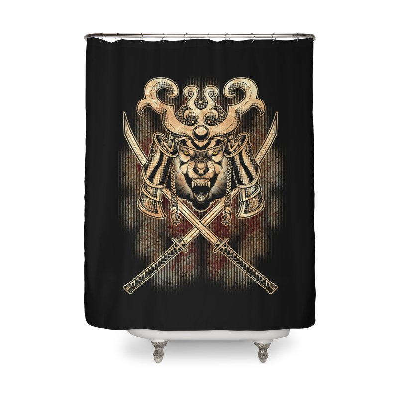 SAMURAI WOLF Home Shower Curtain by Inkdwell's Artist Shop