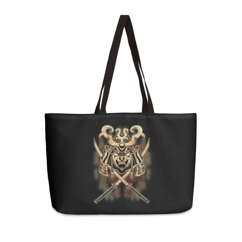 SAMURAI WOLF Accessories Bag by Inkdwell's Artist Shop