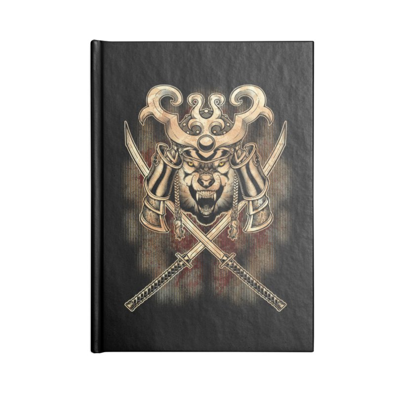 SAMURAI WOLF Accessories Blank Journal Notebook by Inkdwell's Artist Shop