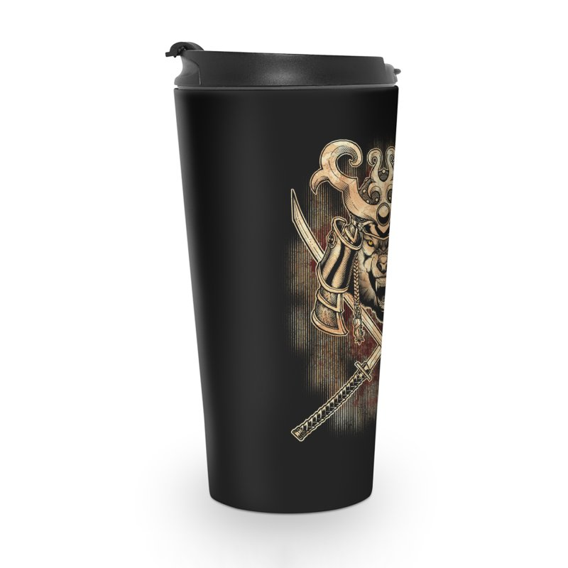SAMURAI WOLF Accessories Travel Mug by Inkdwell's Artist Shop
