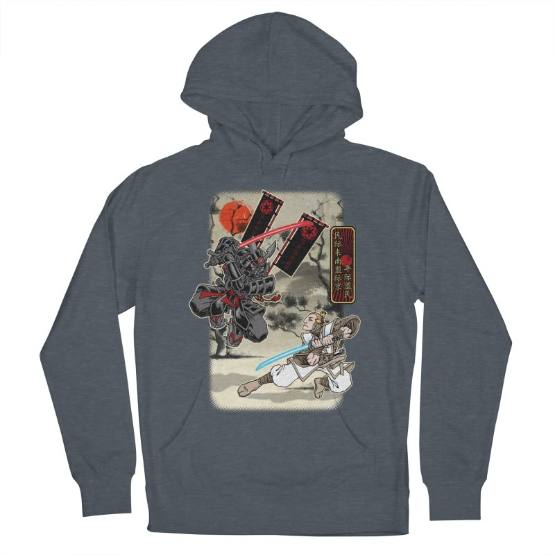 SAMURAI WARS Women's French Terry Pullover Hoody by Inkdwell's Artist Shop
