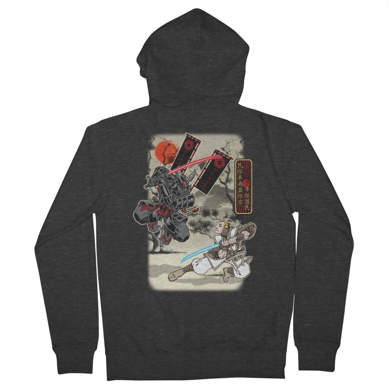 SAMURAI WARS Women's French Terry Zip-Up Hoody by Inkdwell's Artist Shop