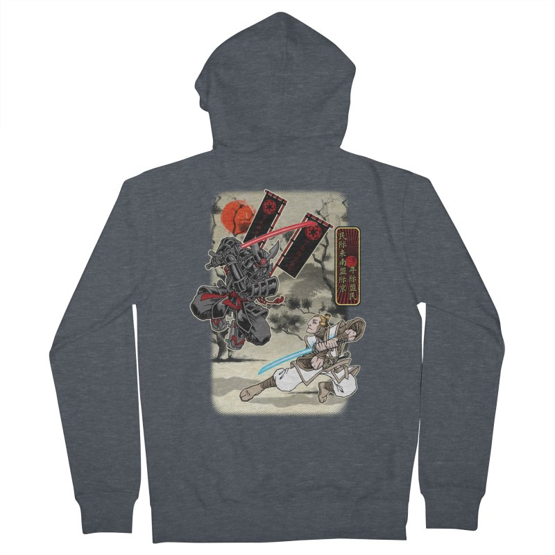 SAMURAI WARS Men's French Terry Zip-Up Hoody by Inkdwell's Artist Shop