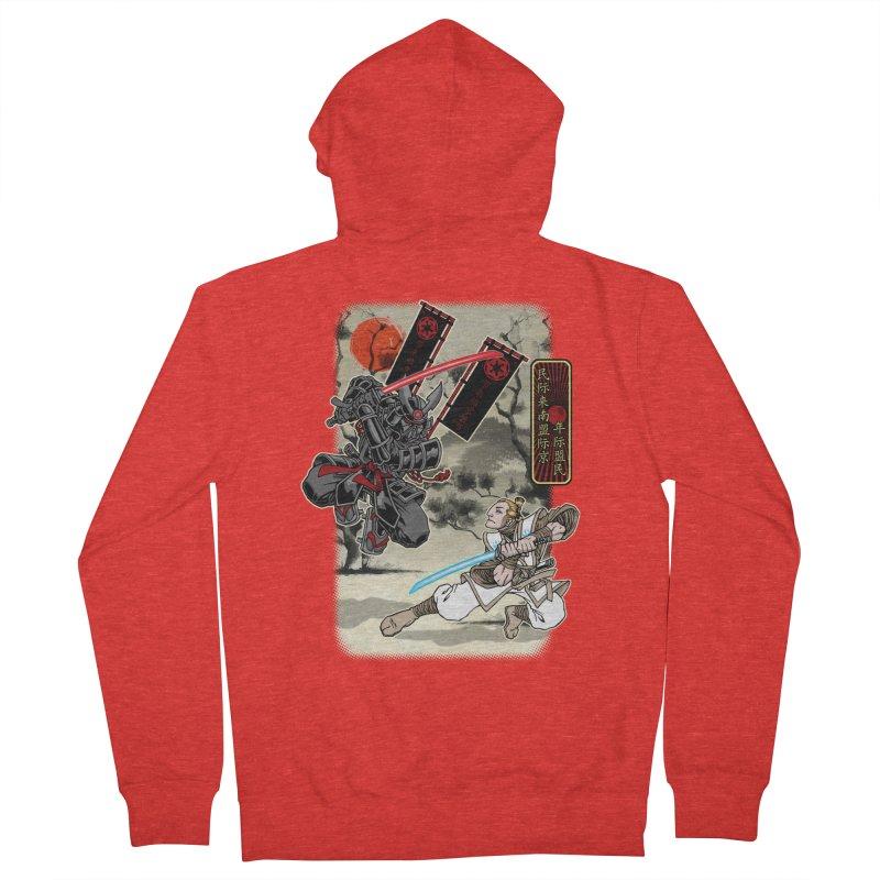 SAMURAI WARS Men's Zip-Up Hoody by Inkdwell's Artist Shop