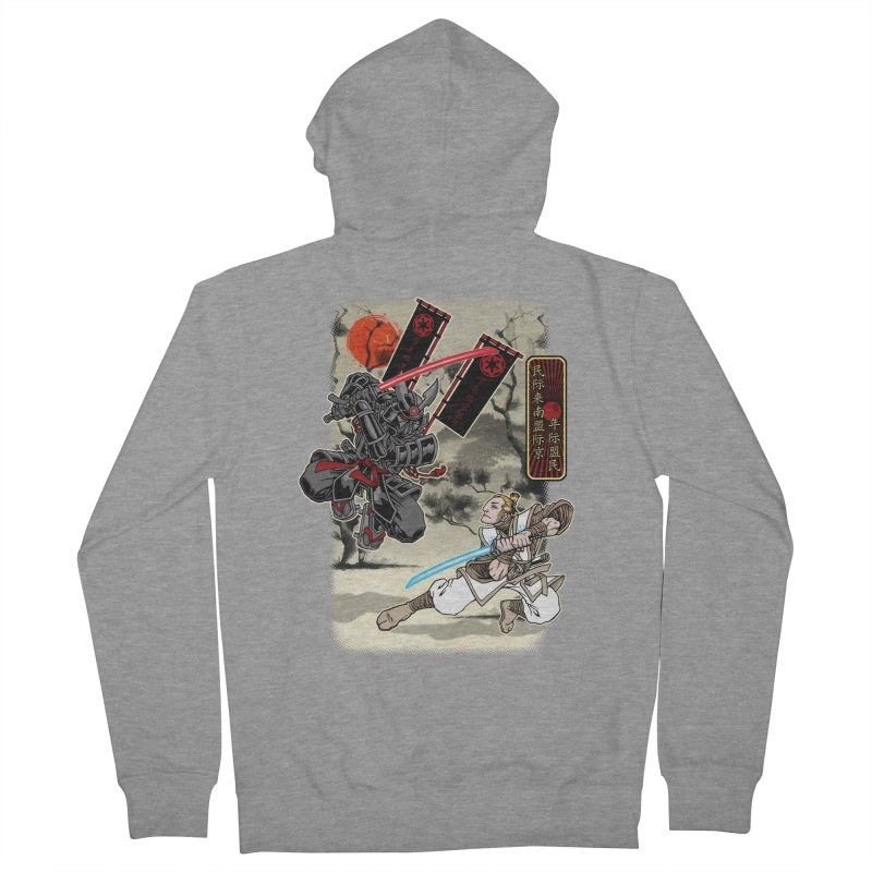 SAMURAI WARS Men's Zip-Up Hoody by Inkdwell's Artist Shop