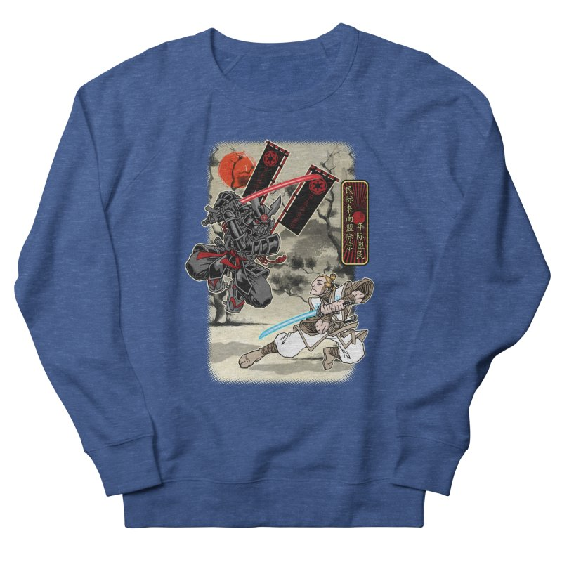 SAMURAI WARS Men's French Terry Sweatshirt by Inkdwell's Artist Shop