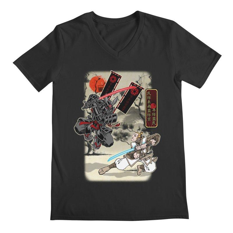 SAMURAI WARS Men's Regular V-Neck by Inkdwell's Artist Shop