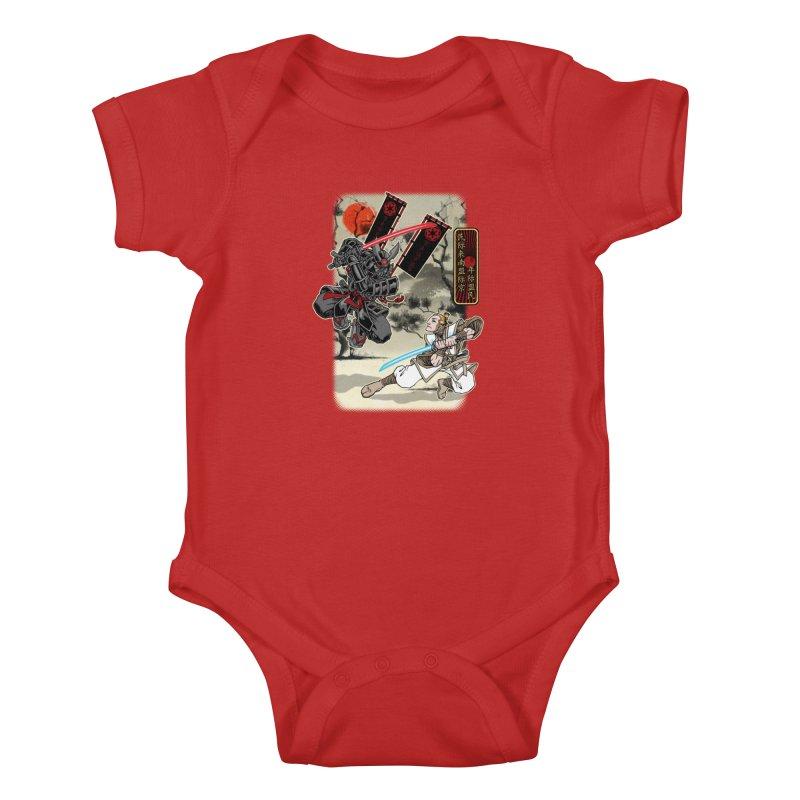 SAMURAI WARS Kids Baby Bodysuit by Inkdwell's Artist Shop