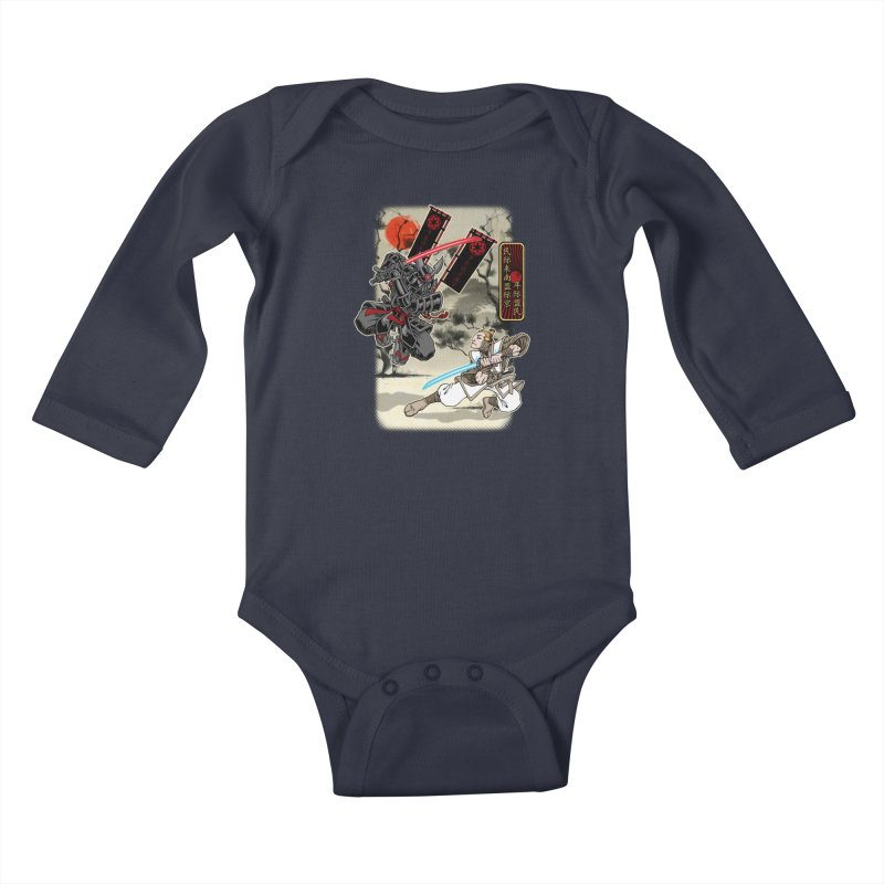 SAMURAI WARS Kids Baby Longsleeve Bodysuit by Inkdwell's Artist Shop