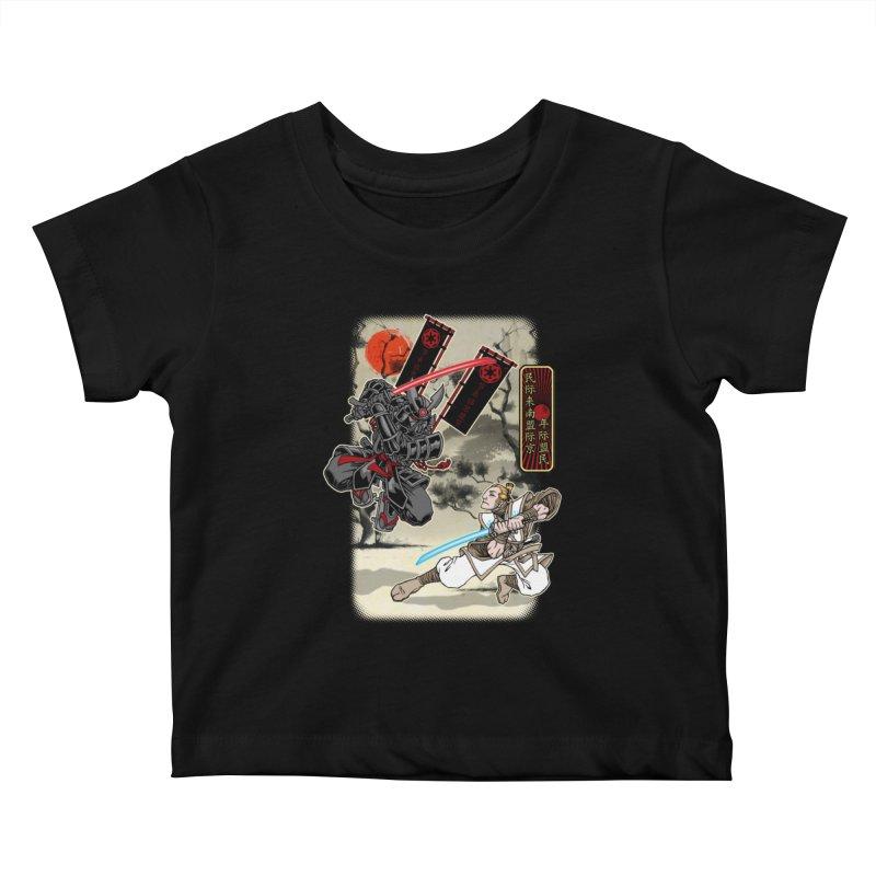 SAMURAI WARS Kids Baby T-Shirt by Inkdwell's Artist Shop