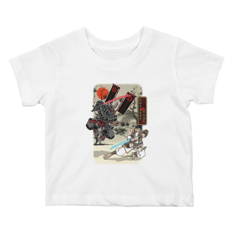 SAMURAI WARS Kids Baby T-Shirt by Inkdwell's Artist Shop