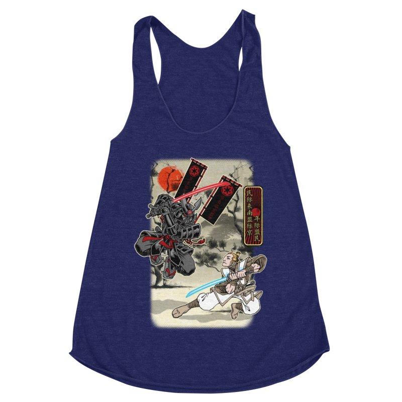 SAMURAI WARS Women's Racerback Triblend Tank by Inkdwell's Artist Shop
