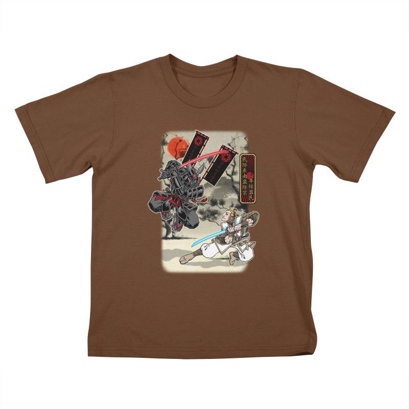 SAMURAI WARS Kids T-Shirt by Inkdwell's Artist Shop