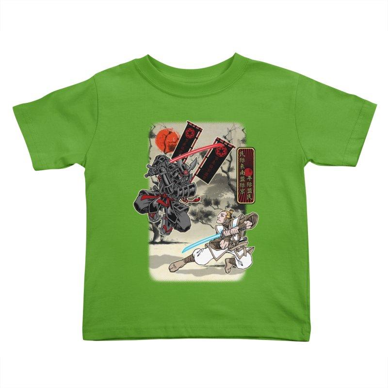 SAMURAI WARS Kids Toddler T-Shirt by Inkdwell's Artist Shop