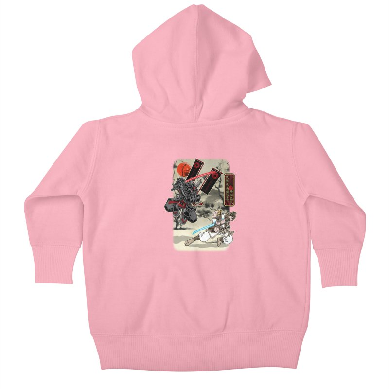 SAMURAI WARS Kids Baby Zip-Up Hoody by Inkdwell's Artist Shop