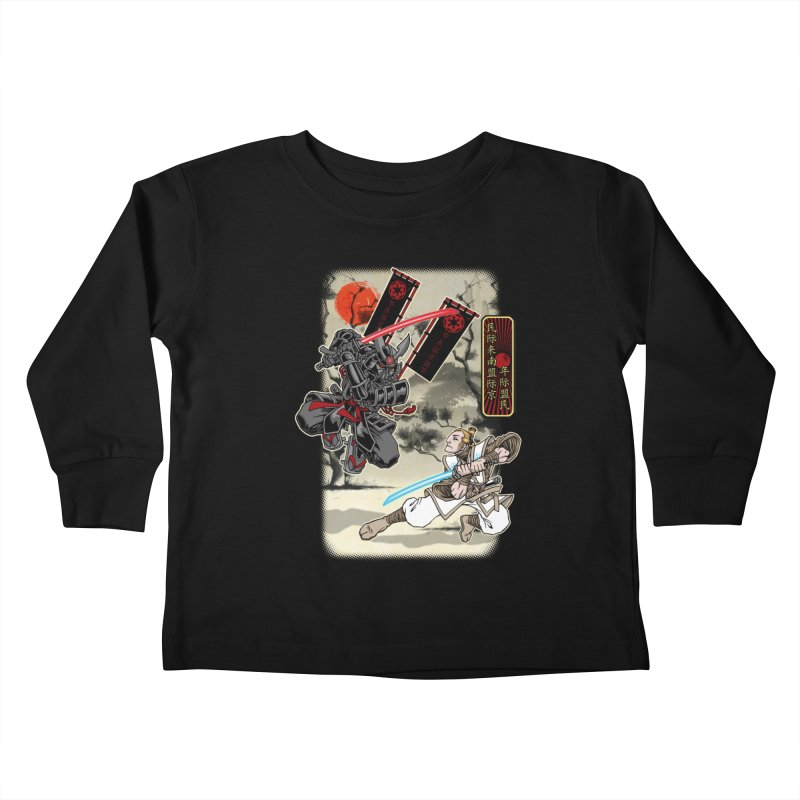SAMURAI WARS Kids Toddler Longsleeve T-Shirt by Inkdwell's Artist Shop