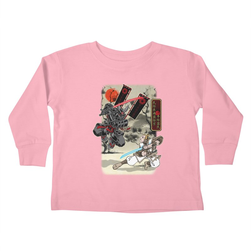 SAMURAI WARS Kids Toddler Longsleeve T-Shirt by Inkdwell's Artist Shop