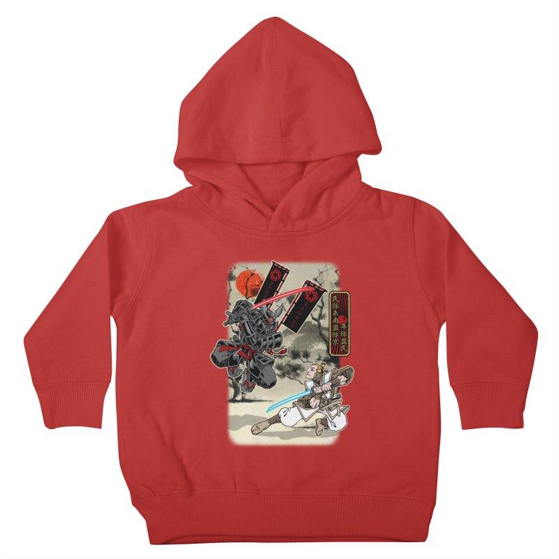SAMURAI WARS Kids Toddler Pullover Hoody by Inkdwell's Artist Shop