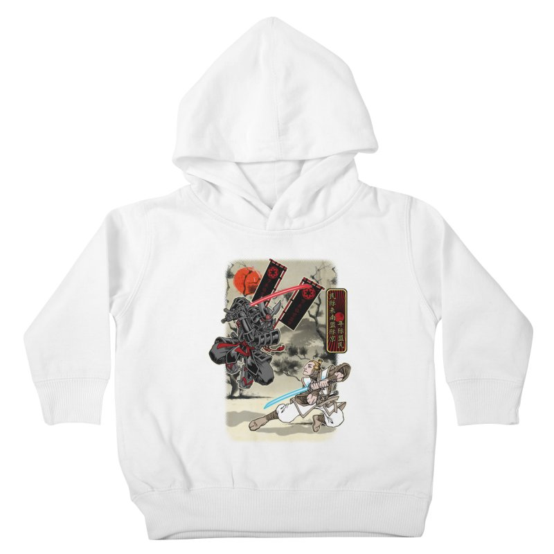 SAMURAI WARS Kids Toddler Pullover Hoody by Inkdwell's Artist Shop