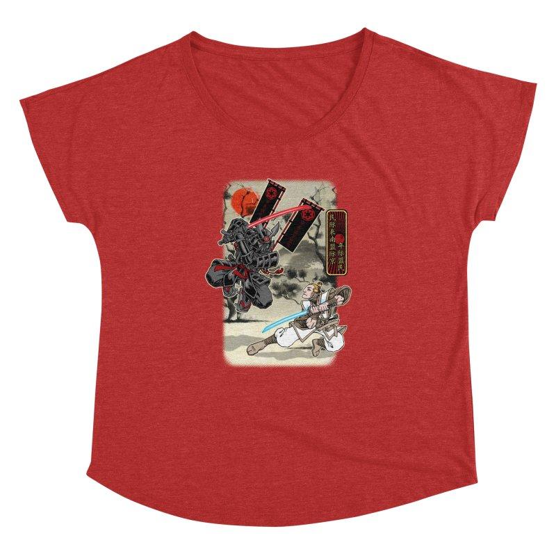 SAMURAI WARS Women's Dolman Scoop Neck by Inkdwell's Artist Shop