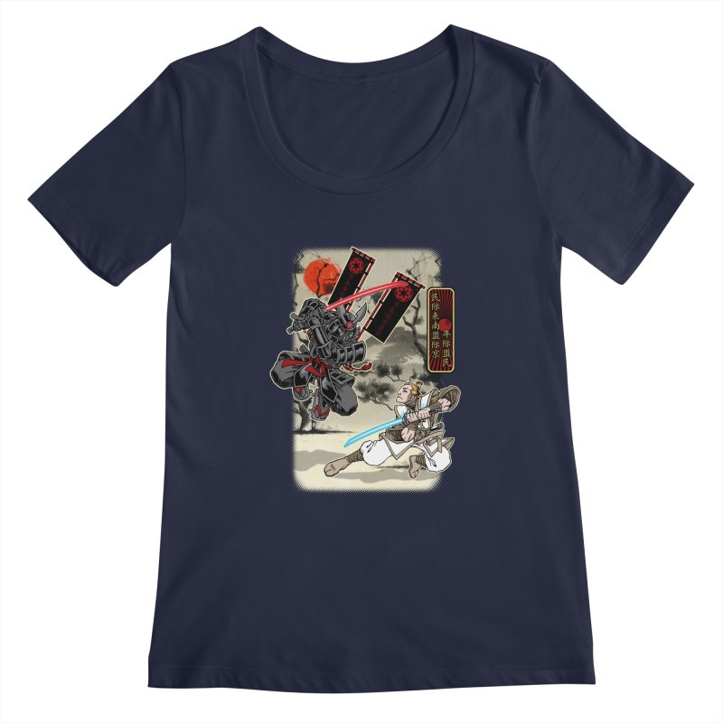SAMURAI WARS Women's Scoopneck by Inkdwell's Artist Shop