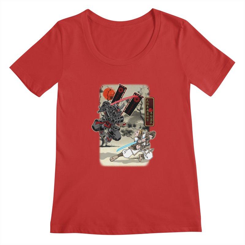 SAMURAI WARS Women's Scoopneck by Inkdwell's Artist Shop