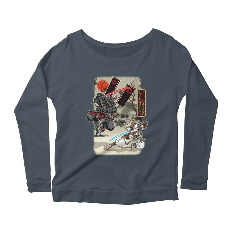 SAMURAI WARS Women's Scoop Neck Longsleeve T-Shirt by Inkdwell's Artist Shop