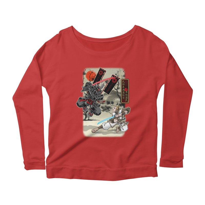 SAMURAI WARS Women's Scoop Neck Longsleeve T-Shirt by Inkdwell's Artist Shop