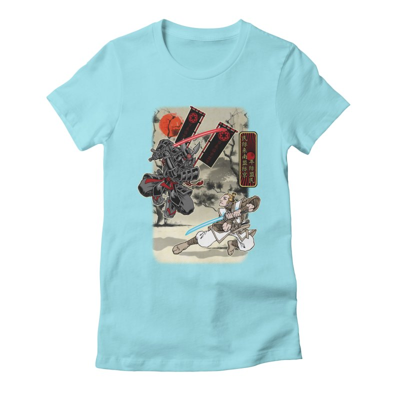 SAMURAI WARS Women's Fitted T-Shirt by Inkdwell's Artist Shop