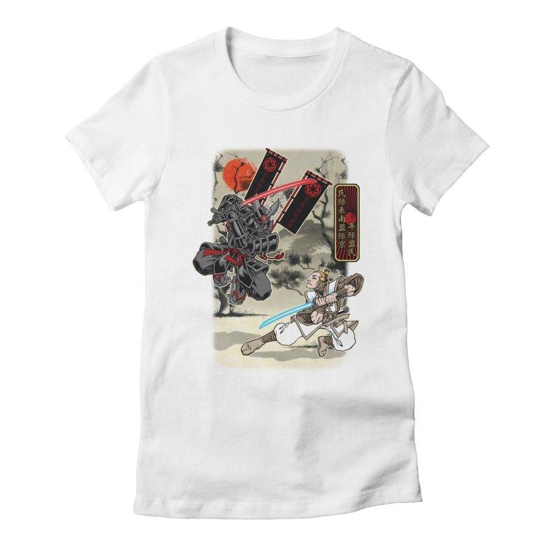 SAMURAI WARS Women's Fitted T-Shirt by Inkdwell's Artist Shop