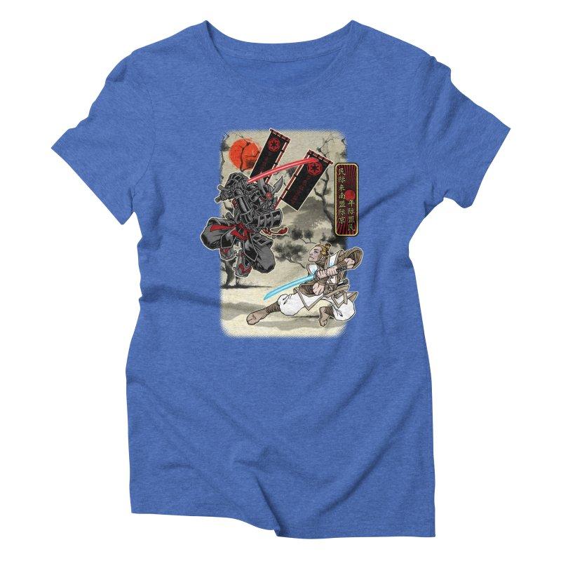 SAMURAI WARS Women's Triblend T-Shirt by Inkdwell's Artist Shop