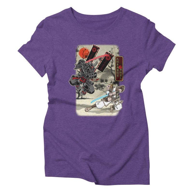 SAMURAI WARS Women's Triblend T-Shirt by Inkdwell's Artist Shop