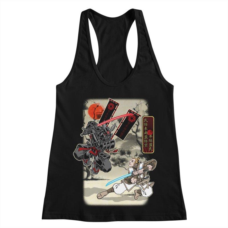 SAMURAI WARS Women's Racerback Tank by Inkdwell's Artist Shop