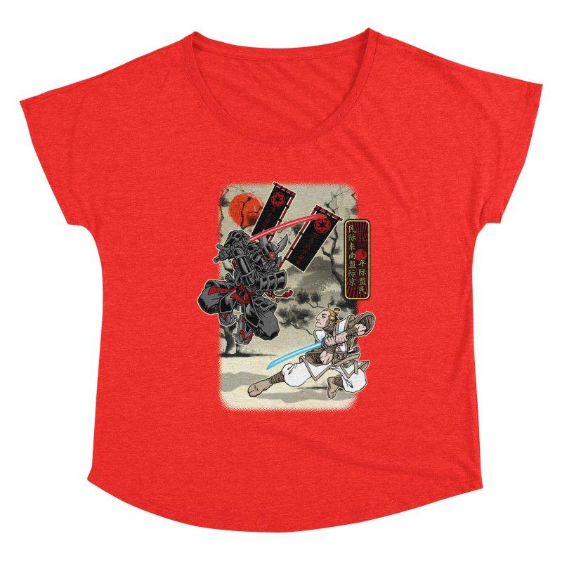 SAMURAI WARS Women's Scoop Neck by Inkdwell's Artist Shop