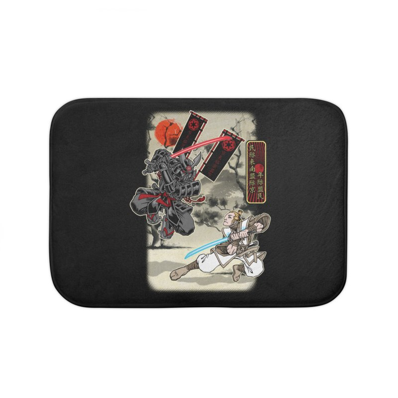 SAMURAI WARS Home Bath Mat by Inkdwell's Artist Shop