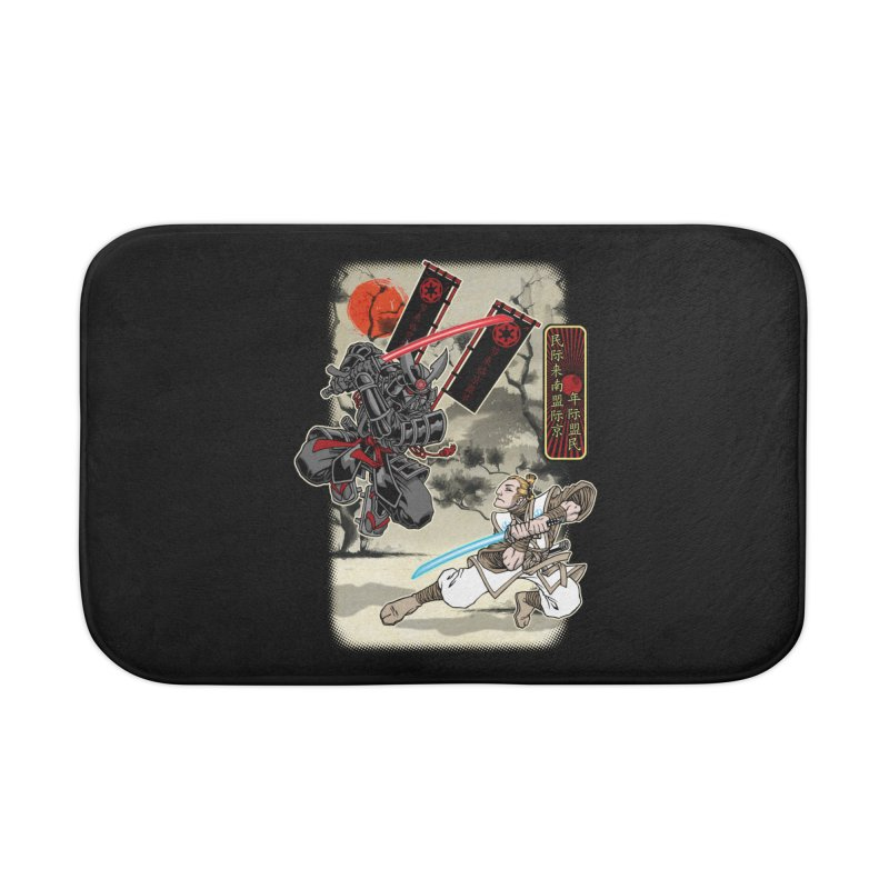SAMURAI WARS Home Bath Mat by Inkdwell's Artist Shop