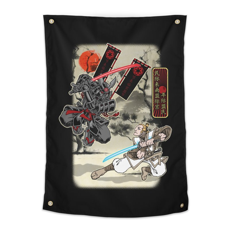 SAMURAI WARS Home Tapestry by Inkdwell's Artist Shop