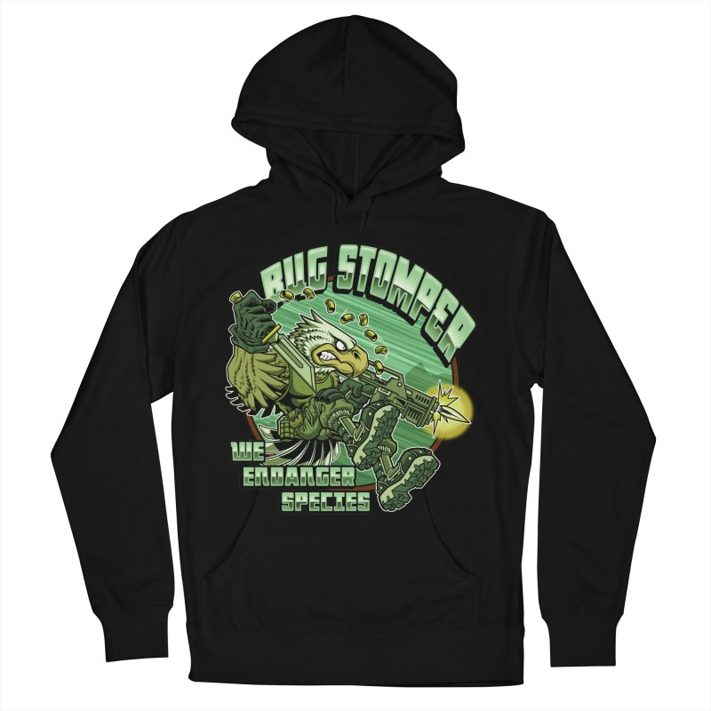 BUG STOMPER! Men's French Terry Pullover Hoody by Inkdwell's Artist Shop
