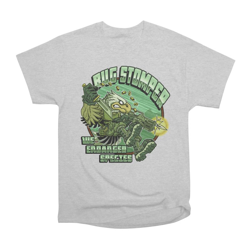 BUG STOMPER! Women's Heavyweight Unisex T-Shirt by Inkdwell's Artist Shop