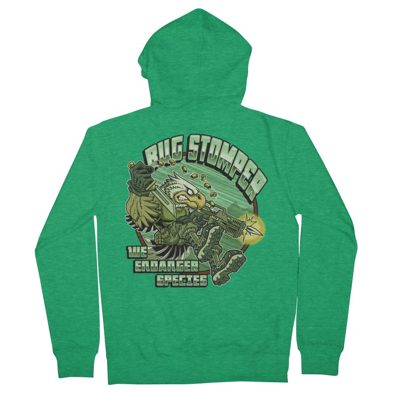 BUG STOMPER! Women's Zip-Up Hoody by Inkdwell's Artist Shop