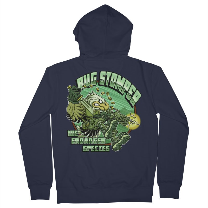 BUG STOMPER! Women's French Terry Zip-Up Hoody by Inkdwell's Artist Shop