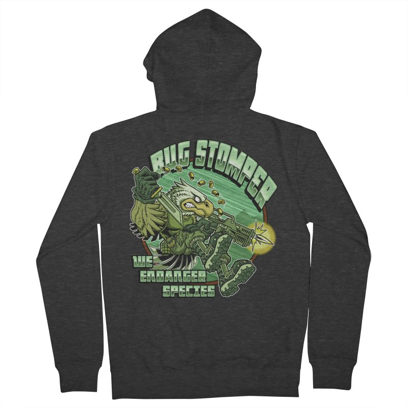 BUG STOMPER! Men's French Terry Zip-Up Hoody by Inkdwell's Artist Shop